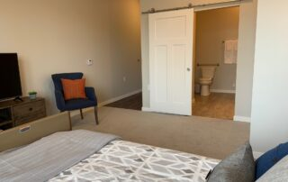 Senior living community apartment bedroom modern design bathroom assisted living community golden valley mn