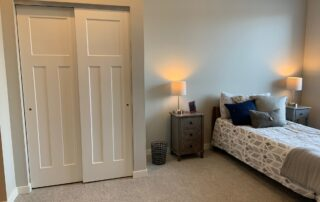 Senior living community apartment modern design assisted living bedroom golden valley mn