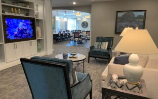 Assisted living senior community apartments residence common room living room entertainment chairs stylish minnesota