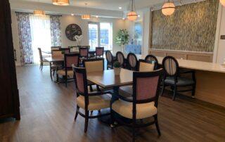 Senior assisted living community common room dining room modern stylish design golden valley minnesota