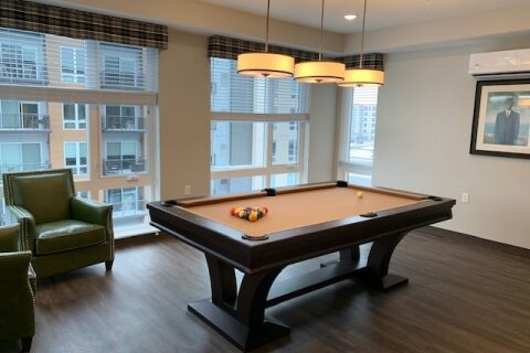 senior living assisted living community golden valley minnesota recreation entertainment room pool table billiards room games