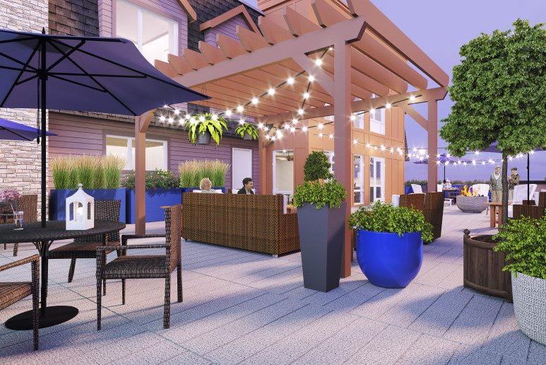 outdoor amenities patio veranda senior living community activities golden valley minnesota